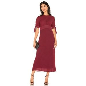 C/MEO Collective Affix Midi Dress Navy Red Check